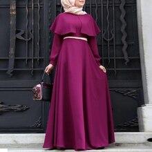 Kaftan Muslim Maxi Dress Female 2017 Women Vintage Sarafan Autumn Clock Retro Sexy Ethnic Aztec Long Sleeve Full Length Dresses