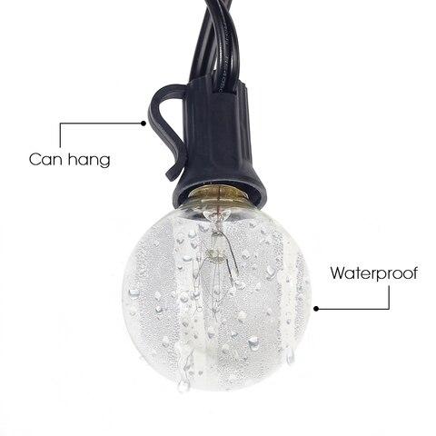 25 lampadas claras 25ft ul alistado para
