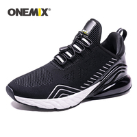 ONEMIX Mesh Breathable Flying Woven Lace Men's Sneaker Shoes Lightweight Sports Shoes New Sport Running Shoes Walking Sneakers