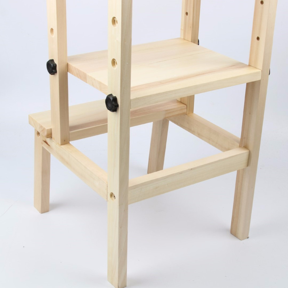 KIDS Children Adjustable Wooden Kitchen Helper Bathroom Stool Learning  Chair DIY Fences Dining Chair In Dining Chairs From Furniture On  Aliexpress.com ...