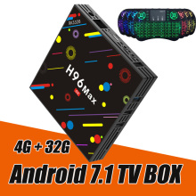 купить RUIJIE 4G 32G H96 Max H2 Android 7.1 TV Box RK3328 Quad Core 4K Smart Tv VP9 HDR10 USB3.0 WiFi Bluetooth 4.0 Media Player по цене 3129.54 рублей