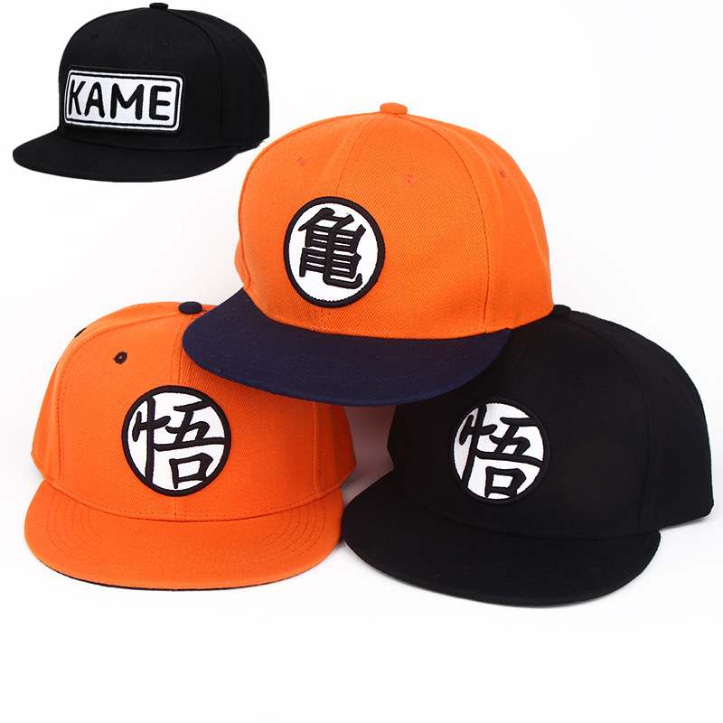 Anime Dragon Ball Z Dragonball Goku KAME Baseball Hat High Quality Cotton Men Women Adjustable Casual HipHop Snapback cap