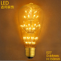 Lampada Vintage Edison Bulb Lamp Light 110V 220V ST64 40W E27 Retro Industry Incandescent Bulb