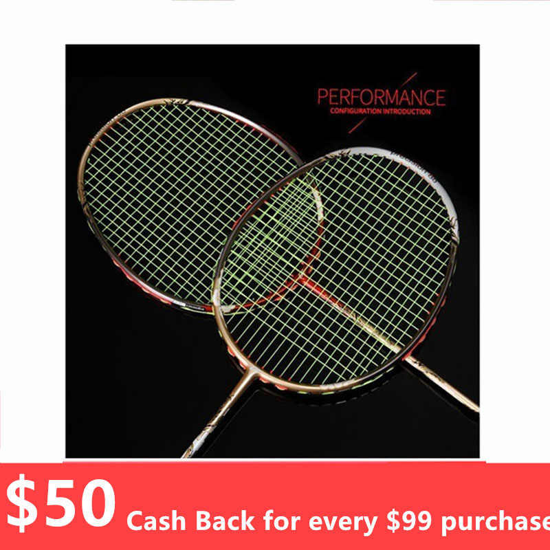 Quality Broken Wind Chinese Dragon Badminton Rackets Carbon Fiber Professional Offensive Racquets Single Racket Q1013CME