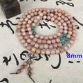 8 mm el budismo tibetano 108 madera de tejo oración bolas collar de Mala