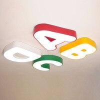 Luces de techo led  lámpara de alfabeto bonita  lámpara de techo romántica cálida para habitación de niños y niños  lámparas de techo