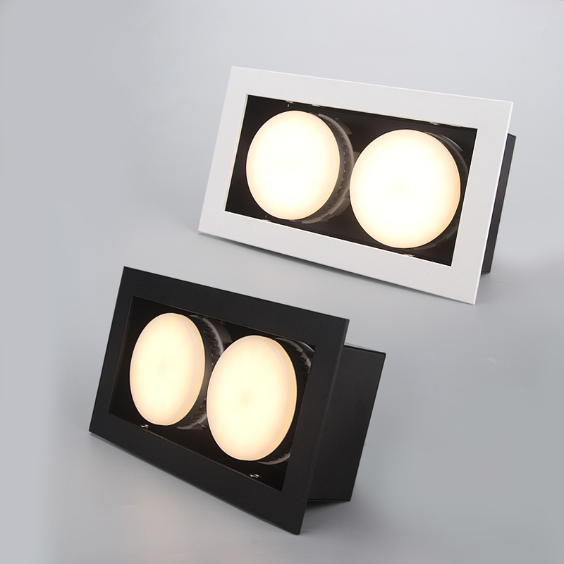 LED Ceiling Lights Double LED Embed spot lamps GX53 2x9W led modules Recessed ceiling light lamp home Lighting for living room