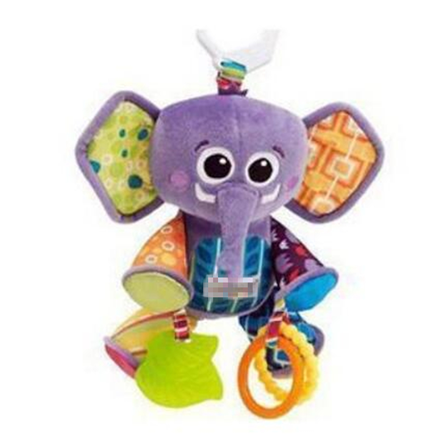 0-36months baby toys Multi-touch Rattle BB device American famous brand toys The new multi-purpose puzzle elephant Pendant
