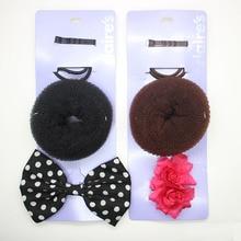 Women's hair accessories set hair doughnut bobby pins flower/polka dots bow beaks alligator hair clips elastic hair bands