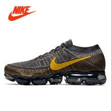 Оригинальный Новое поступление Аутентичные Nike Air Vapormax Flyknit мужские кроссовки спортивные уличные кроссовки дышащие 849558-009