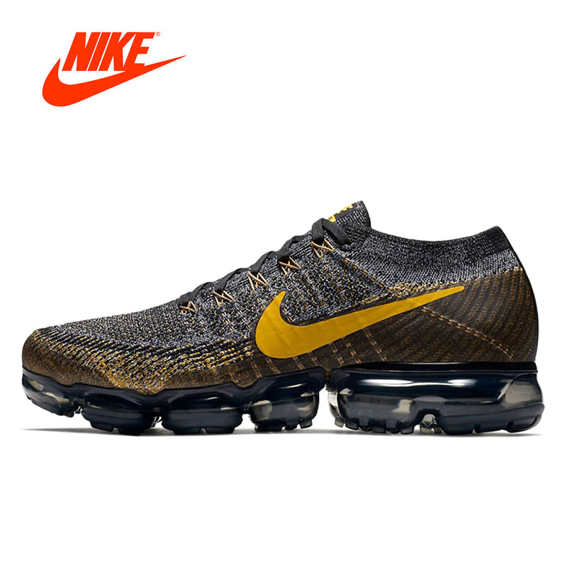 Original Nouvelle Arrivée Authentique Nike Air Vapormax Flyknit Hommes Chaussures de Course de Sport En Plein Air Sneakers Respirant 849558-009
