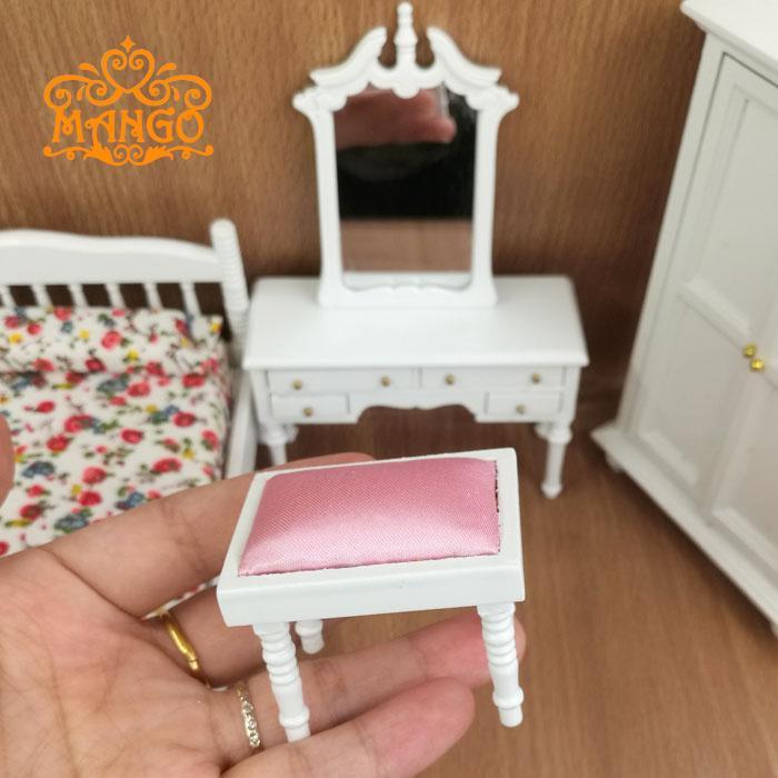 Majhno pohištvo za lutke 1/12 Scale, predalnik in stolček za - Igra igranja vlog - Fotografija 2