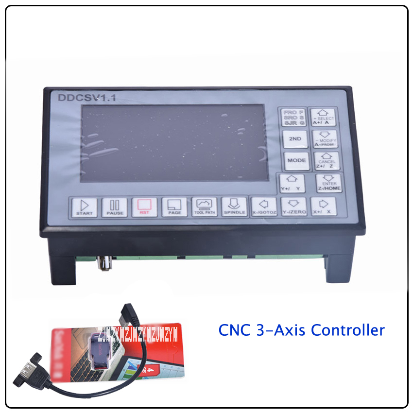 DDCSV1.1 Engraving Machine CNC 3 Axis Controller, 500KHz 24V CNC system step servo offline controller