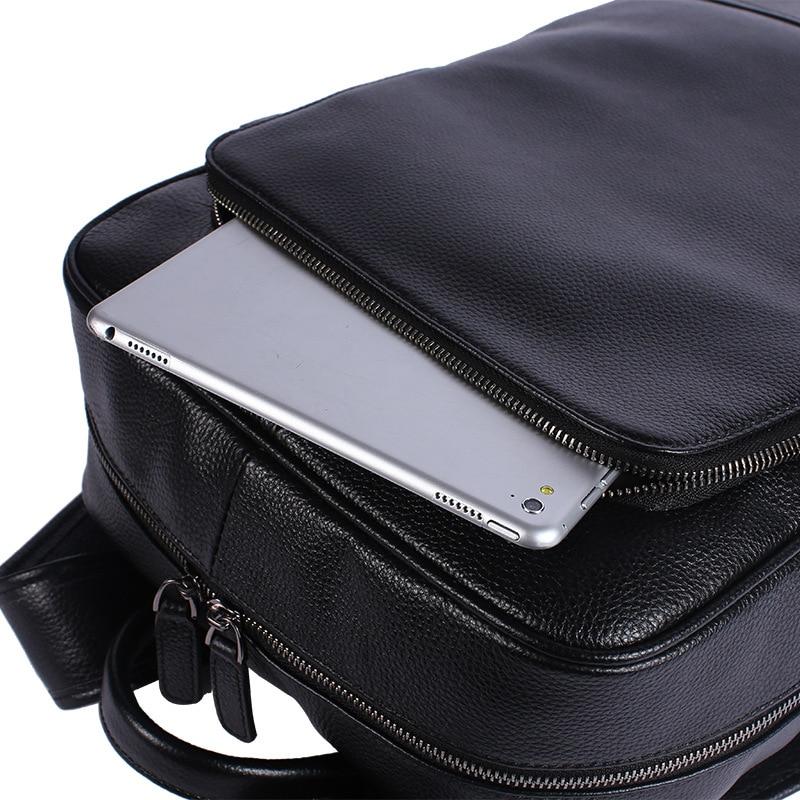 Rucksäcke Große Männlichen Leder Black 15 Natürliche Männer Garantieren 100 Zoll Laptop Rucksack Casual Reisetasche Echte Business qTwatF6