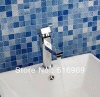 Durable Beautiful Chrome Brass Tap Faucet Bathroom Sink Basin Tree223
