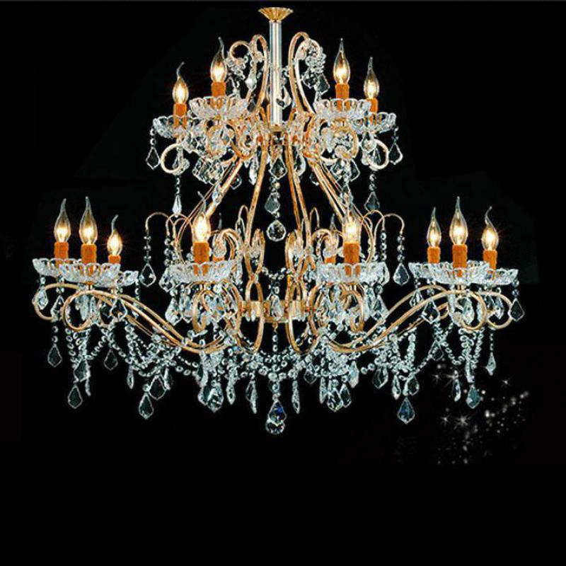 Chandeliers New Fashion Antique Gold Chandelier Crystal Lighting For Dining Room Shopcase Glass Shade Home Lighting E27 Led Hotel Fixtures Luminaria Lights & Lighting