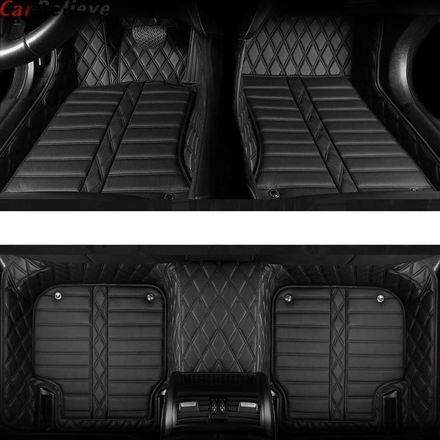 รถเชื่อ Auto รถชั้นเท้าสำหรับ Skoda Superb 2017 3 KODIAQ Yeti Octavia RS 1 Fabia 3 karoq rapid 2017 อุปกรณ์เสริมพรม