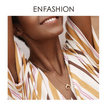 Enfashion Moon Necklace Women Gold Color Long Chain Statement Men Necklaces Stainless Steel Boho Jewelry 2019 Naszyjnik PM193003(China)