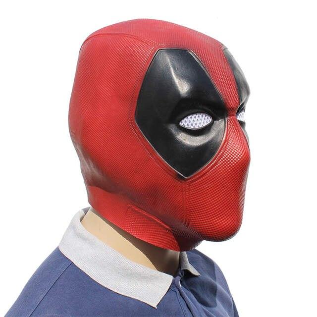 US $11.21 34% OFF|Movie Deadpool Cosplay Mask Latex Full Head Helmet Deadpool Wade Winston Wilson Party Costume Masks Props|Boys Costume Accessories|
