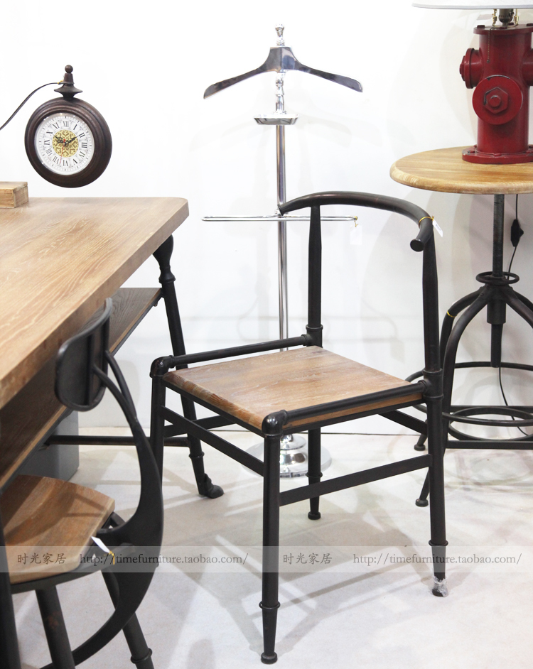 American Retro Industrial Loft Style French Country Furniture Personalized  Coffee Bar Table Chair Dining Chair Armchair In Shampoo Chairs From  Furniture On ...