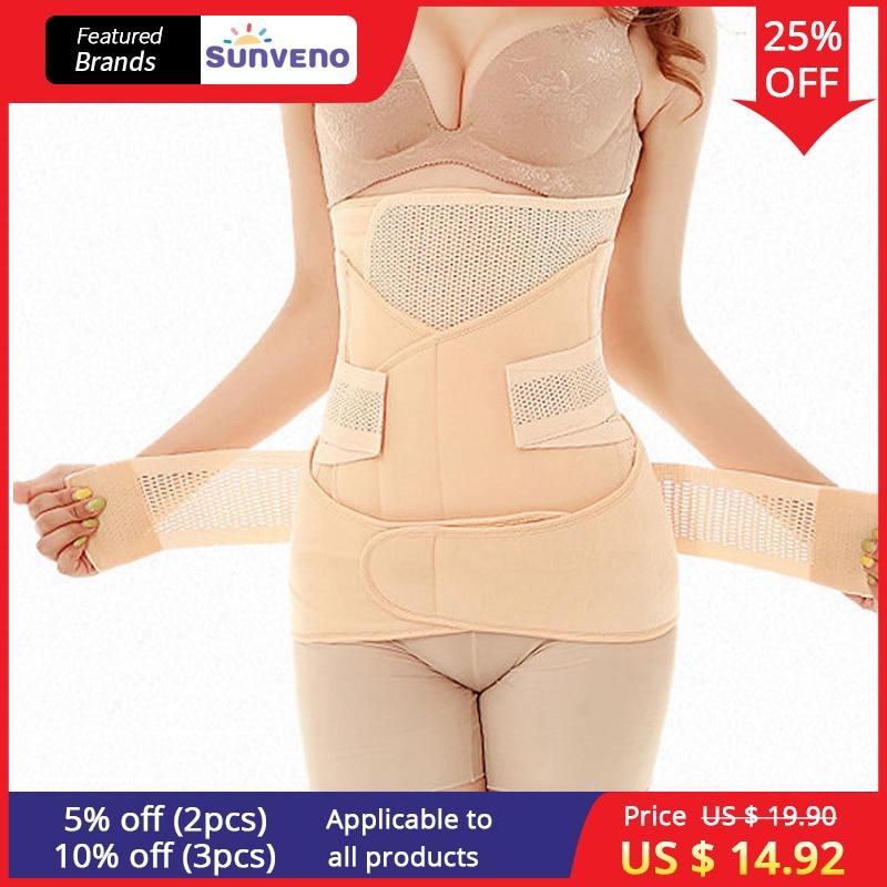 3in1 del vientre/Abdomen/Pelvis posparto cinturón recuperación del cuerpo fajas vientre Slim cintura Cinchers de entrenador de la cintura corsé