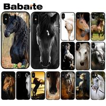 Babaite Frederik De Grote schoonheid paard Zwarte Soft Shell Telefoon Cover voor Apple iPhone 8 7 6 6 S Plus X XS MAX 5 5 S SE XR Cover(China)