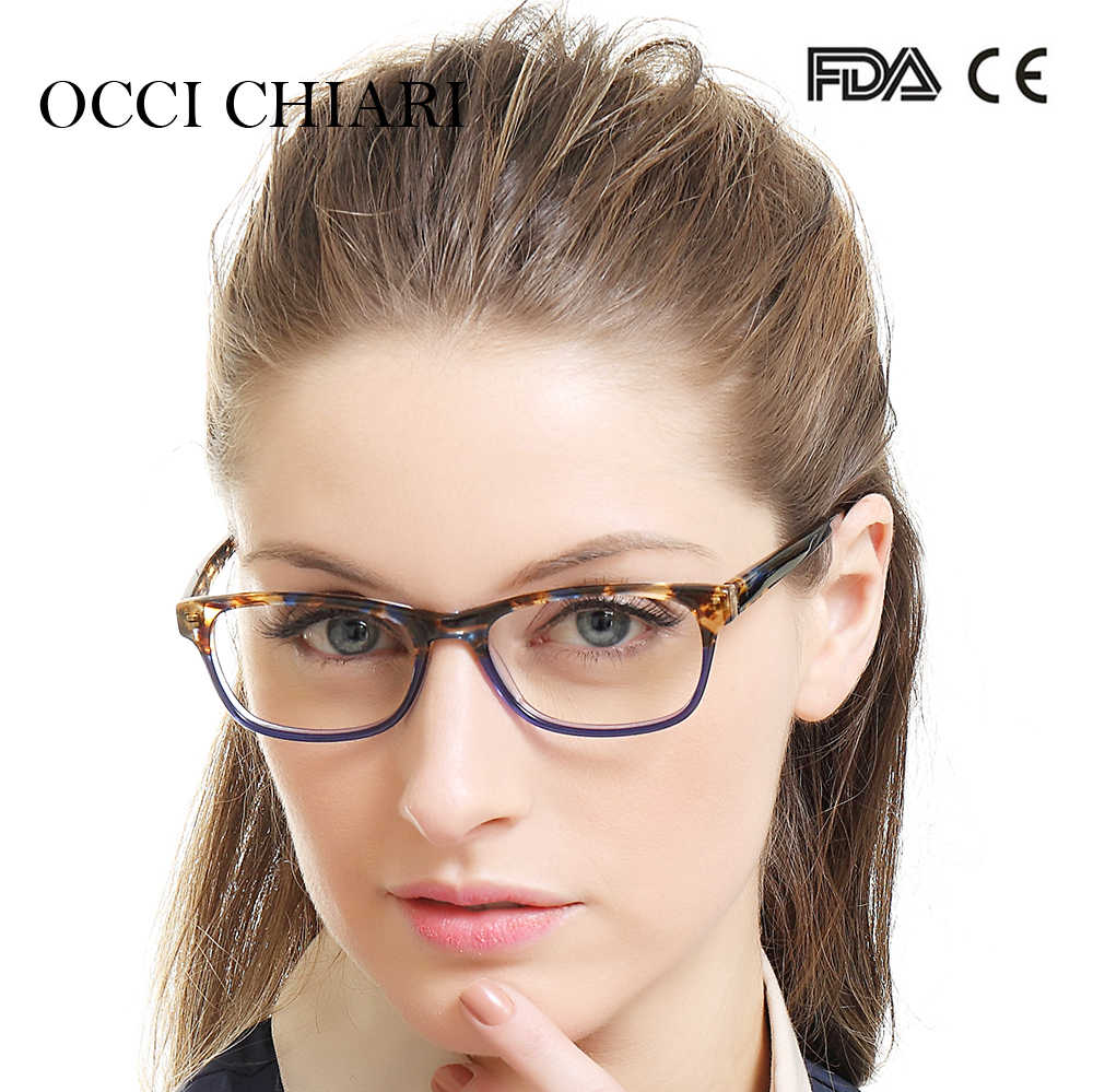 de8b089555a7 Detail Feedback Questions about OCCI CHIARI Recommend Fashion Women  Eyeglasses Demi Colors Patchwork Prescription Nerd Lens Medical Optical  Glasses Frame ...