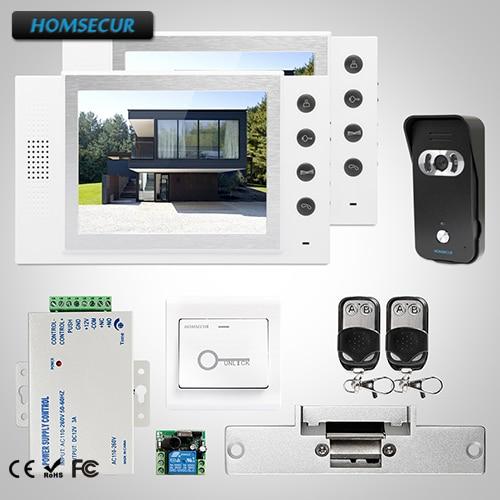 HOMSECUR 8 Видео домофонов безопасности домофон + Dual-Путь Интерком для дома/без каблука TC021-B + TM801-W ...