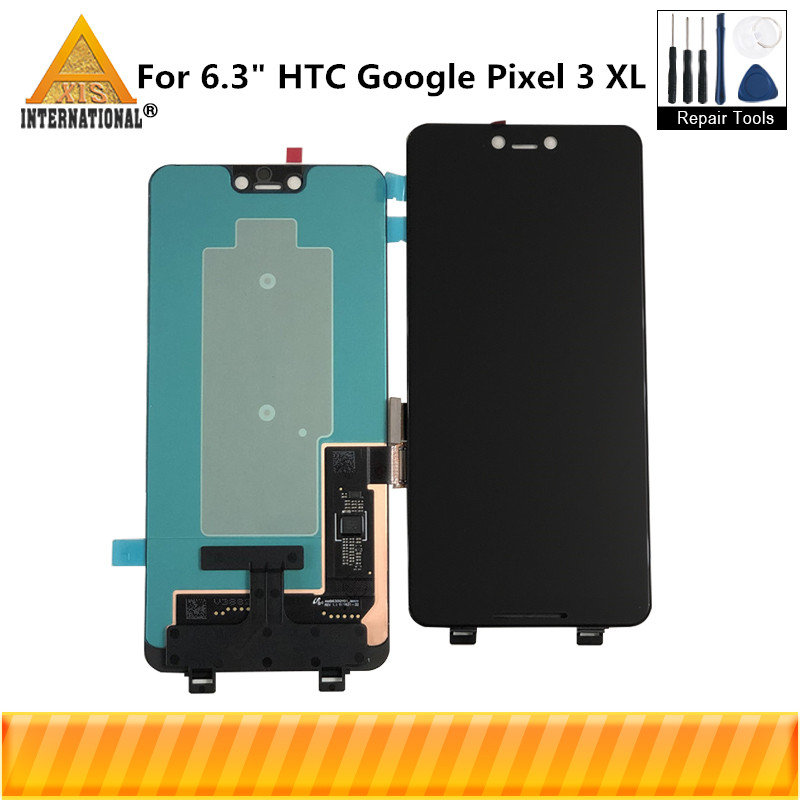 Axisinternational For 6.3 HTC Google Pixel 3 XL OLED LCD Screen Display+Touch Panel Digitizer For Google Pixel 3XL ReplacementAxisinternational For 6.3 HTC Google Pixel 3 XL OLED LCD Screen Display+Touch Panel Digitizer For Google Pixel 3XL Replacement