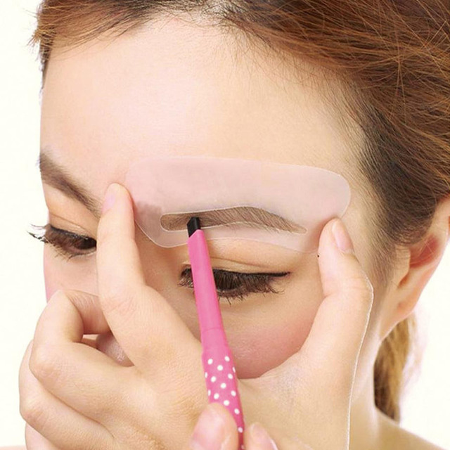 MayCreat 24 styles reusable Eyebrow stencil pencil for eyebrows enhancer drawing guide card brow template DIY make up Tools 3
