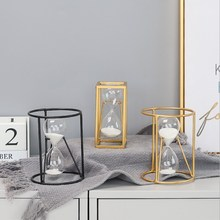60 Minutes Hourglass Sand Timer For Kitchen School Modern Metal Hour Glass Sandglass Clock Tea Timers Home Decoration Gift
