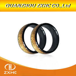 Image 2 - Золотое керамическое умное кольцо для пальцев с радиочастотной идентификацией 125 кГц/13,56 МГц для мужчин и женщин