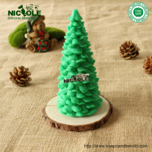 Free Shipping 3D Pine Christmas Tree Silicone candle mold Handmade soap mould resin molds decoration craft