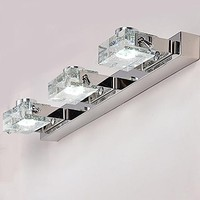 Artistic Stainless Steel Led Mirror Bathroom Light LED Wall Lamp With 3 Lights Wall Sconce Free Shipping