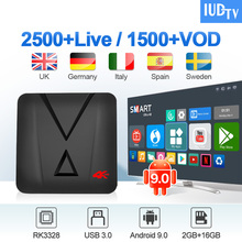 IPTV Spain UK Germany IUDTV MX10 Mini Android 9.0 2G+16G USB3.0 Nordic Europe Greek Italian EX-YU Box