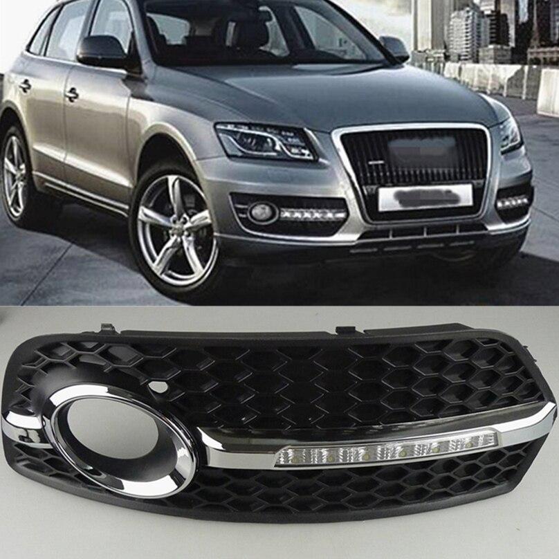 Car Flashing 1pair For Audi Q5 2010 2011 2012 2013 LED DRL