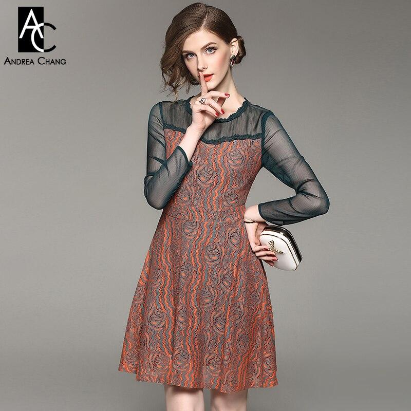 Платья прозрачный рукав