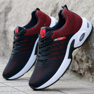 Image 1 - Vulcanized Shoes Male Sneakers 2019 Fashion Summer Air Mesh Breathable Wedges Sneakers For Men Plus Size 38 44 buty meskie