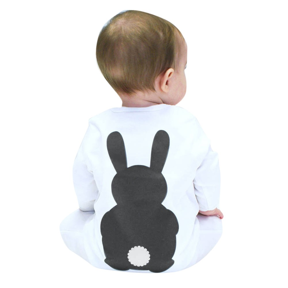 Newborn Baby Boys Girls Cute Print Romper Long Sleeve Romper Jumpsuit Clothes Fox Rabbit Printed Rompers Warm Cute newborn baby rompers baby clothing 100% cotton infant jumpsuit ropa bebe long sleeve girl boys rompers costumes baby romper