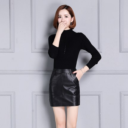 New Leather Skirt First Layer Leather Skirt K104 in Skirts from Women 39 s Clothing