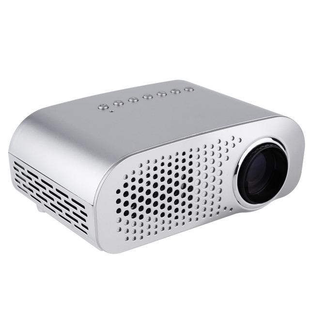 38 W Mini Proyector Portátil GP802A 1080 P HD de Cine En Casa, Proyector Multimedia AV VGA SD Puertos USB Blanco de LA UE EE.UU. REINO UNIDO