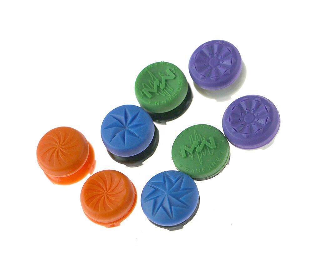 29 cores para ps4 game controller pad silicon rubber joystick analógico botão extensores extender tampas com pacote