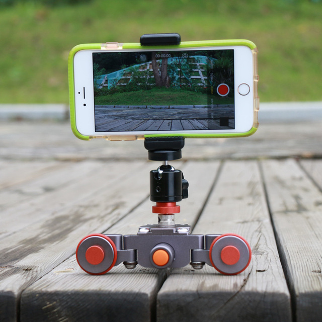 Ulanzi Flexible Autodolly Video Car 3-Wheel Electric Dolly Track Slider Skater for iPhone DSLR Camera Camcorder Youtube Vlogger