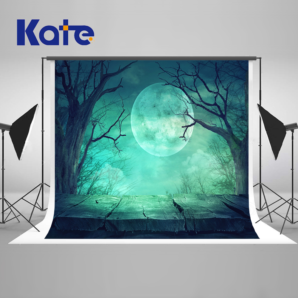Kate Green Screen 5X7FT Halloween Photo Background Photography Backdrop Moonlight Board Tree Washbale Photography Backdrop the halloween tree