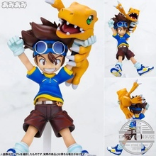 Brand New Anime Digital Monster 12cm Digimon Adventure Yagami Taichi Agumon Action Figure PVC Toys Collectible Model Toy Gifts