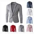 New Arrival Mens Slim Fit Blazer Jacket Korean Stylish Single Button Men Suit Costume Veste Homme