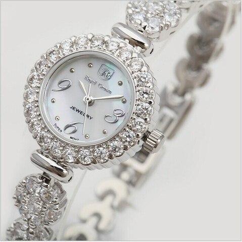 Vestido de Casca Relógio de Pulso Marca Original Feminino Pulseira Relógios Natural Blingbling Cristais Relógio Analógico Quartzo Reloj Montre Femme