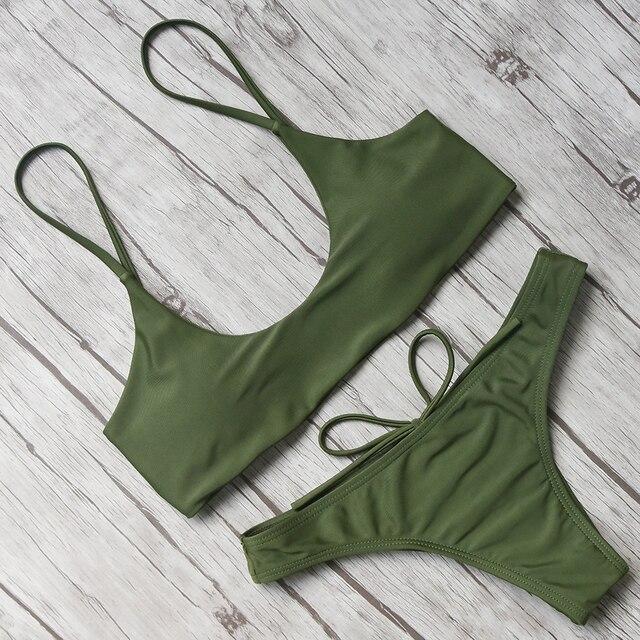 Bow-Knot Sexy Bikini 2018 Swimwear Women Brazilian Bikini Push Up Swimsuit Bandage Biquini Set Bathing Suit Micro with Padded