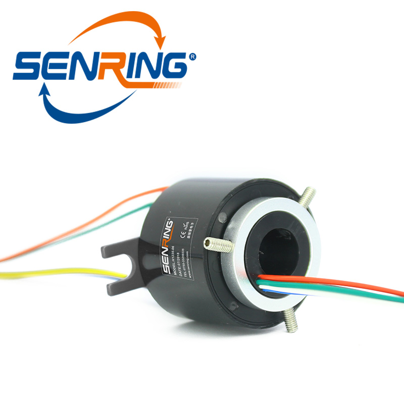 Electric Slip Ring H1235 for 6 Circuits 5A Through Hole Sliprings with Hole Bore 12mm OD Size 35mm  Signal Rotary UnionElectric Slip Ring H1235 for 6 Circuits 5A Through Hole Sliprings with Hole Bore 12mm OD Size 35mm  Signal Rotary Union