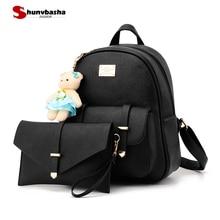 Fashion Women Backpack For Girls 2018 High Quality Pu Leather Purse Backpacks Female Fashion Girls Bags